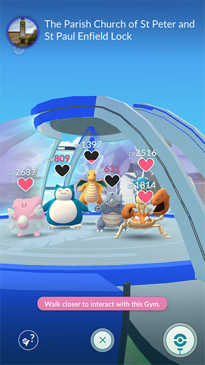 Pokemon Go Gym Update